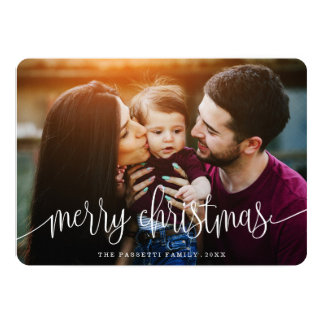 Berry Merry Christmas Photo Card 13 Cm X 18 Cm Invitation Card