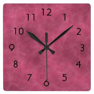 Berry Mist Square Wall Clock
