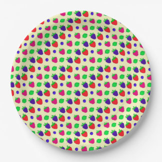 Berry mix paper plate