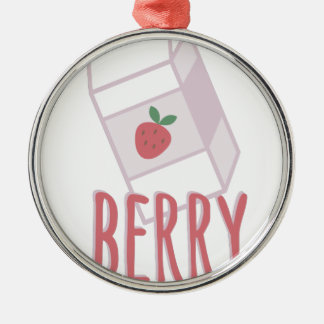 Berry Nutritious Silver-Colored Round Decoration