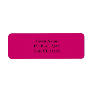 Berry Red Violet Return Address Label