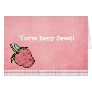 Berry Sweet Folded Notecard