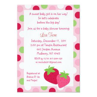 Berry Sweet Strawberry Baby Shower Invitations
