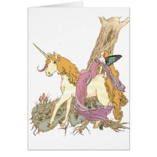 Berry The Unicorn Greeting Card