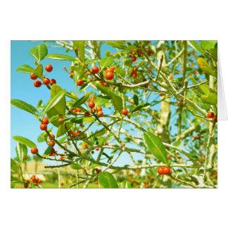 Berry Tree Greeting Card