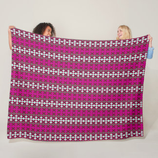 Berry-White-Stripes-Fleece-Lg Fleece Blanket