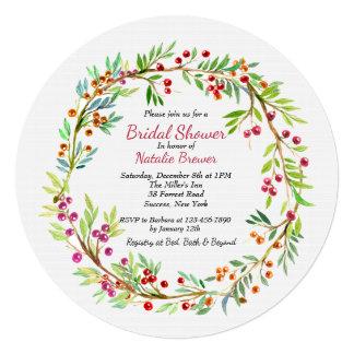 Berry Wreath Invitation