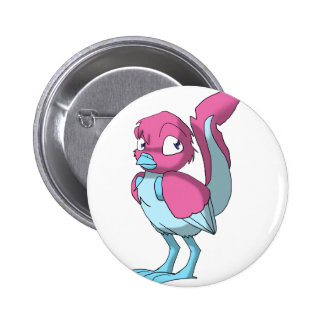 Berry Yogurt Ice Blue Reptilian Bird Pinback Buttons