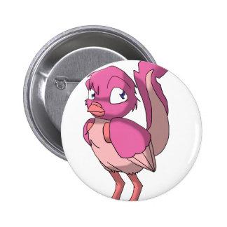 Berry Yogurt Reptilian Bird Button