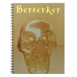 Berserker Skull Spiral Notebook