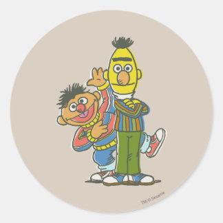 Bert and Ernie Classic Style Classic Round Sticker