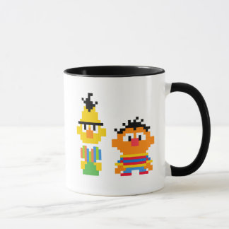 Bert and Ernie Pixel Art Mug
