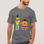 Bert and Ernie Pixel Art T-Shirt