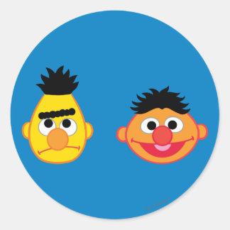 Bert & Ernie Emojis Classic Round Sticker