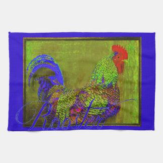 Bert the Rooster Retro Art Kitchen Towel