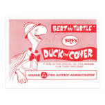 """Bert the Turtle says """"Duck and Cover!"""" Postcard"""