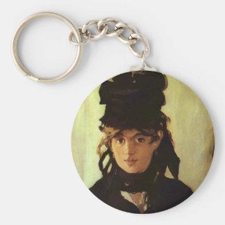 Berthe Morisot Basic Round Button Key Ring