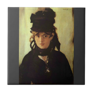 Berthe Morisot by Edouard Manet Tile