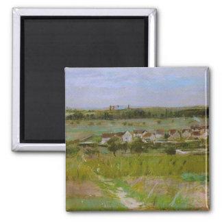 Berthe Morisot French Landscape Paintings Square Magnet