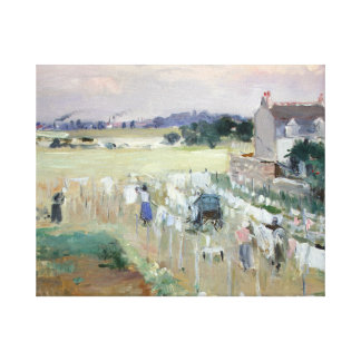 Berthe Morisot - Hanging the Laundry out to Dry Canvas Print