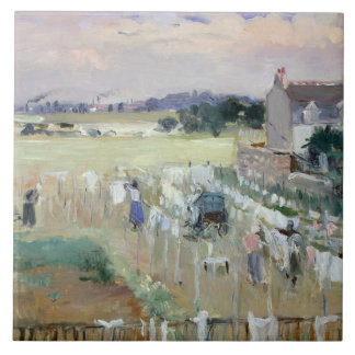 Berthe Morisot - Hanging the Laundry out to Dry Ceramic Tile