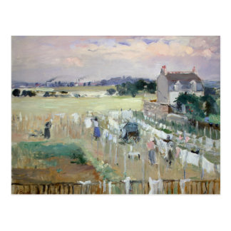 Berthe Morisot - Hanging the Laundry out to Dry Postcard