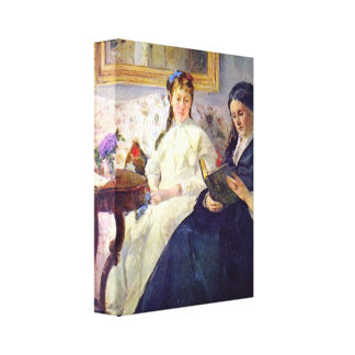 Berthe Morisot - Mother and sister of the artist Canvas Prints