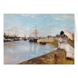 Berthe Morisot The Harbor at Lorient Card