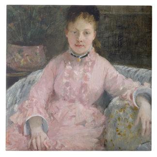 Berthe Morisot - The Pink Dress Tile