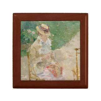 Berthe Morisot - Young Woman Knitting Gift Box