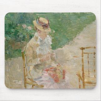 Berthe Morisot - Young Woman Knitting Mouse Pad