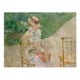 Berthe Morisot - Young Woman Knitting Postcard