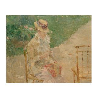 Berthe Morisot - Young Woman Knitting Wood Wall Decor