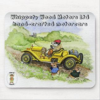 Bertie Badger Motorcar mousepad