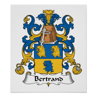 Bertrand Family Crest Poster