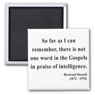 Bertrand Russell Quote 2a Square Magnet