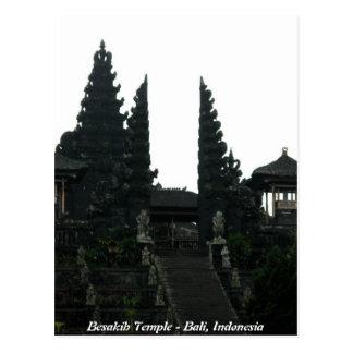 Besakih Temple Bali Indonesia Postcard