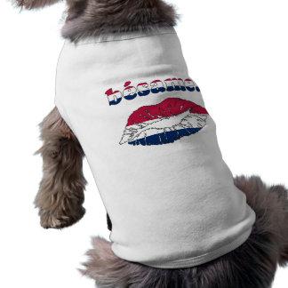Bésame in American Flag Colors Pet T Shirt