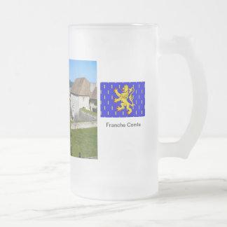 Besançon, Fortress ramparts Frosted Glass Mug