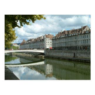 Besançon waterfront postcard