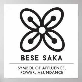 BESE SAKA   Symbol of Affluence, Power, Abundance Poster