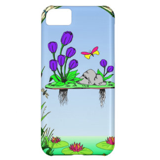 Beside the lilypond iPhone 5C case