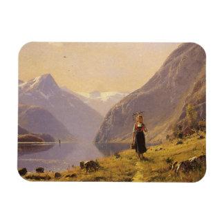 Beside the Norwegian Fjord Rectangular Photo Magnet