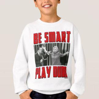 BeSmartPlayDumb18x21SttooClinton4RED Sweatshirt