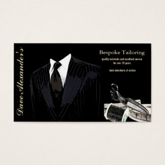 bespoke tailoring business card