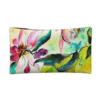 Bess in the Citrus Tree Watercolor Painting Makeup Bag