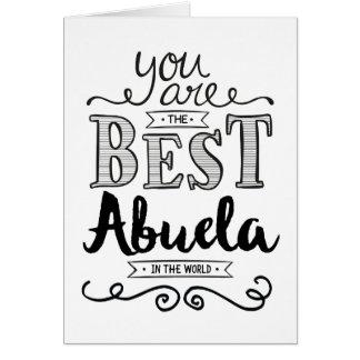 Best Abuela in the World Birthday Card