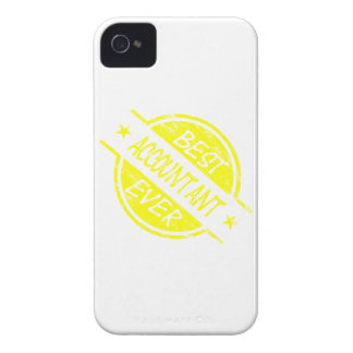 Best Accountant Ever Yellow Case-Mate iPhone 4 Case