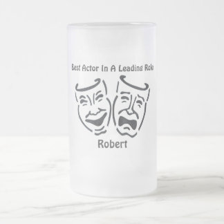 Best Actor/Leading Role: Robert Frosted Glass Beer Mug