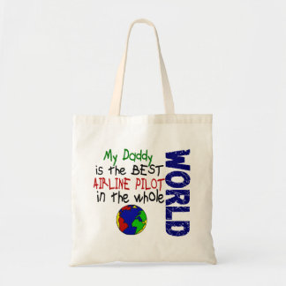 Best Airline Pilot In World 2 (Daddy) Tote Bags